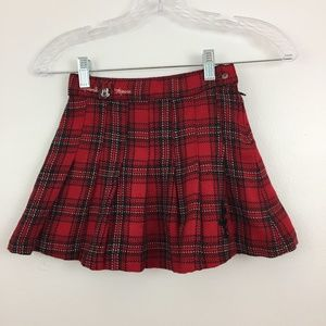 Disney by H&M Girls Skirt Size 4-5 Red Plaid